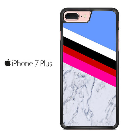 Blue Marble Stripe Iphone 7 Plus Case
