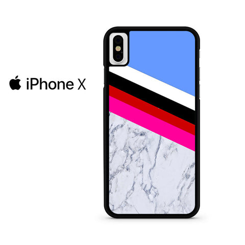 Blue Marble Stripe Iphone X Case