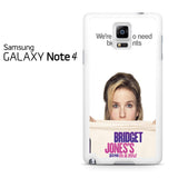 Bridget Jones's Baby Samsung Galaxy Note 4 Case