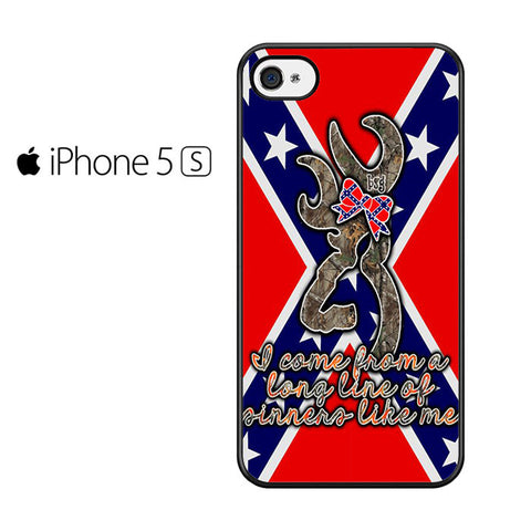 Browning Rebel Flag Iphone 5 Iphone 5S Iphone SE Case
