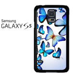 Butterfly Drawing Flying Colorful Blue Samsung Galaxy S5 Case