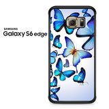 Butterfly Drawing Flying Colorful Blue Samsung Galaxy S6 Edge Case