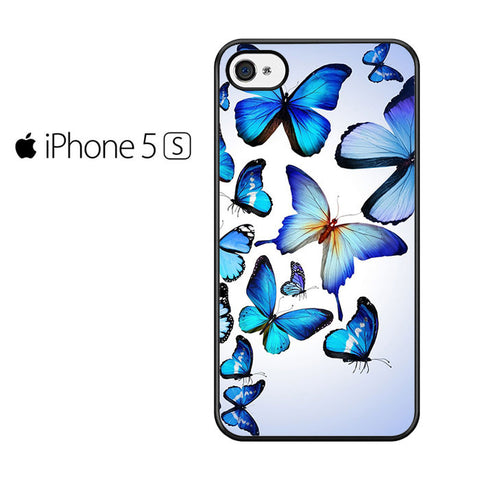 Butterfly Drawing Flying Colorful Blue Iphone 5 Iphone 5S Iphone SE Case