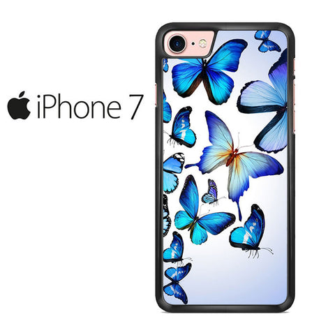 Butterfly Drawing Flying Colorful Blue Iphone 7 Case