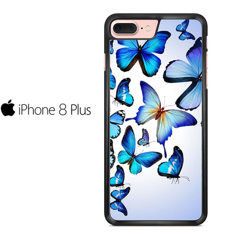 Butterfly Drawing Flying Colorful Blue Iphone 8 Plus Case
