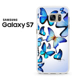 Butterfly Drawing Flying Colorful Blue Samsung Galaxy S7 Case