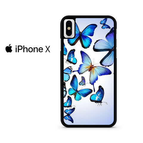Butterfly Drawing Flying Colorful Blue Iphone X Case