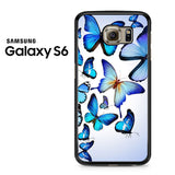 Butterfly Drawing Flying Colorful Blue Samsung Galaxy S6 Case