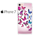 Butterfly Drawing Flying Colorful pink Iphone 7 Case