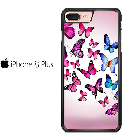 Butterfly Drawing Flying Colorful Pink Iphone 8 Plus Case