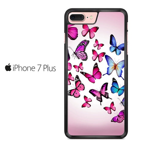Butterfly Drawing Flying Colorful pink Iphone 7 Plus Case