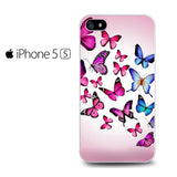 Butterfly Drawing Flying Colorful pink Iphone 5 Iphone 5S Iphone SE Case