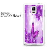 Butterfly Purple Samsung Galaxy Note 4 Case