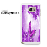 Butterfly Purple Samsung Galaxy Note 5 Case