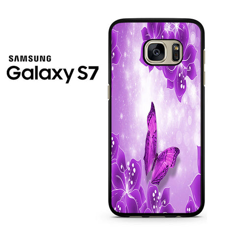 Butterfly Purple Samsung Galaxy S7 Case