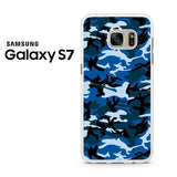 Camouflage Army Blue Samsung Galaxy S7 Case