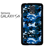 Camouflage Army Blue Samsung Galaxy S5 Case
