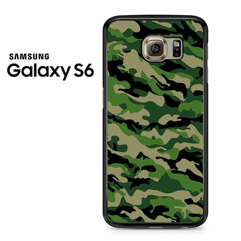 Camouflage Army Green Samsung Galaxy S6 Case