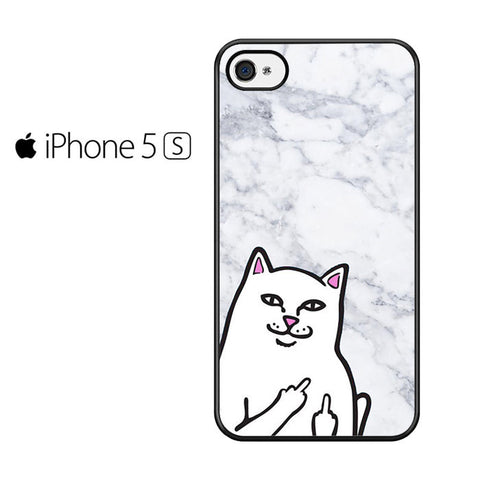 Cat Middle Finger Marble Iphone 5 Iphone 5S Iphone SE Case