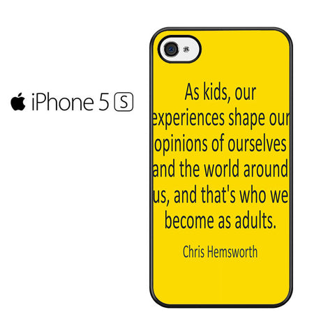 Chris Hemsworth Quote Iphone 5 Iphone 5S Iphone SE Case