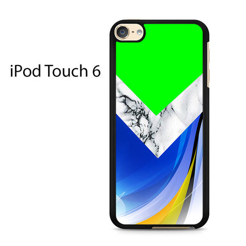 Agate Marble Chevron Green Ipod Touch 6 Case