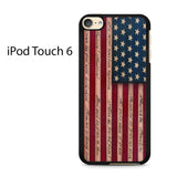 American Flag Wood Ipod Touch 6 Case