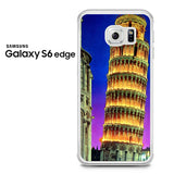 Beautiful Night Tower Of Pisa Samsung Galaxy S6 Edge Case