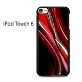 Black And Red Abstract Ipod Touch 6 Case