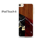 Black And Red Marble Wood Ipod Touch 6 Case