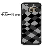 Black Grey Diamond Samsung Galaxy S6 Edge Case