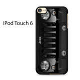 Black Jeep Wrangler Sport 4x4 SUV Ipod Touch 6 Case