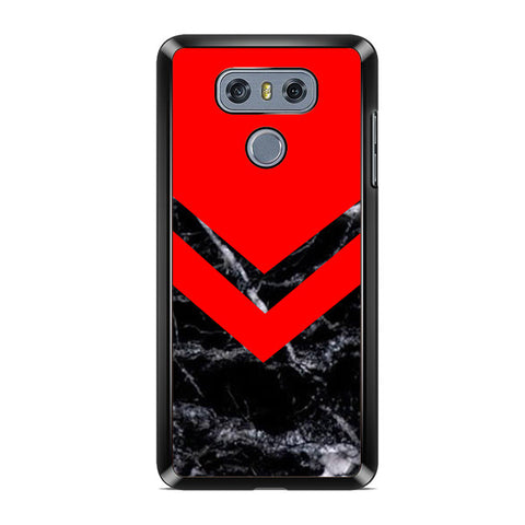 Black Red Marble LG G6 Case