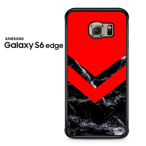 Black Red Marble Samsung Galaxy S6 Edge Case