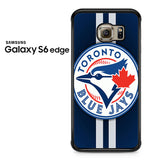 Blue Jays Logo And Stripes Samsung Galaxy S6 Edge Case