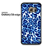 Blue Leopard Samsung Galaxy S6 Edge Case