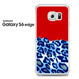 Blue Red Leopard Samsung Galaxy S6 Edge Case