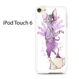 Bohemian Cat Amethyst Sphynx Ipod Touch 6 Case