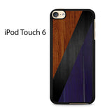 Brown Black And Dark Wood Ipod Touch 6 Case