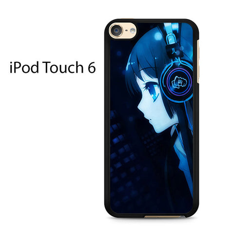 Cartoon Girl Listening To Music Ipod Touch 6 Case