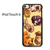 Cats Drawing Pattern Ipod Touch 6 Case