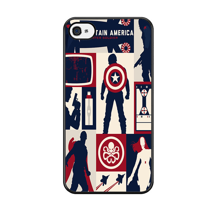 info for c721e 03919 Captain America Winter Soldier Collage Iphone 5 Iphone 5S Iphone SE Case