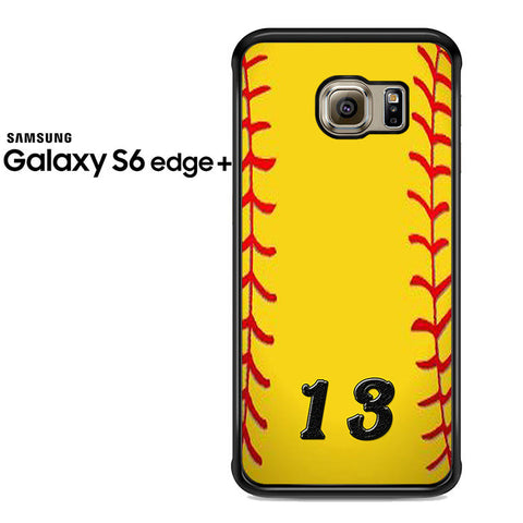 13 Custom Softball Samsung Galaxy S6 Edge Plus Case