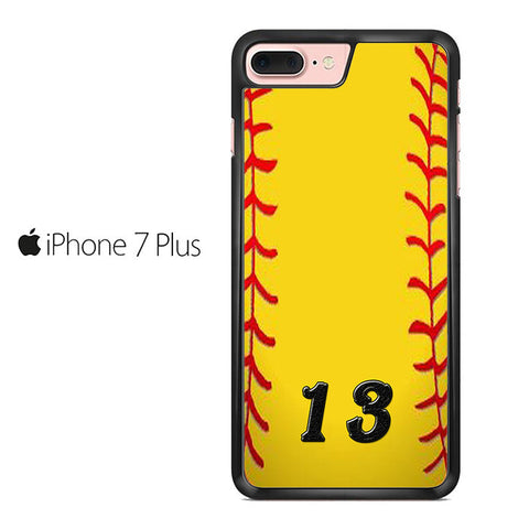 13 Custom Softball Iphone 7 Plus Case