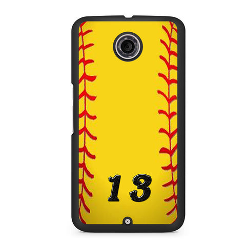 13 Custom Softball Nexus 6 Case