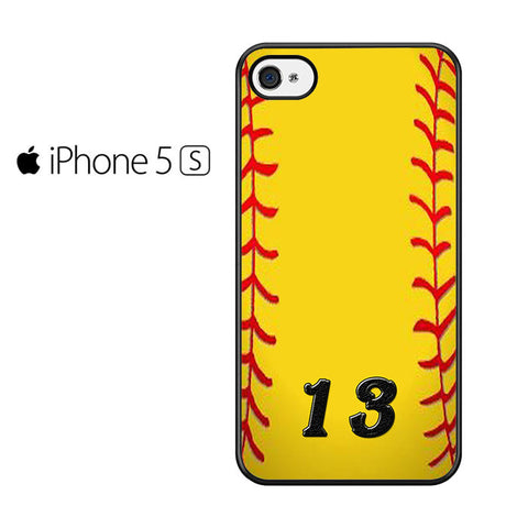 13 Custom Softball Iphone 5 Iphone 5S Iphone SE Case