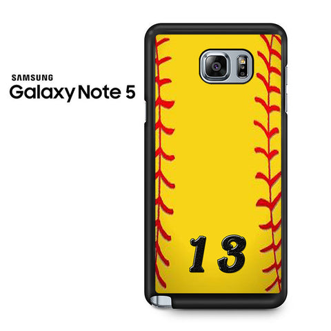 13 Custom Softball Samsung Galaxy Note 5 Case