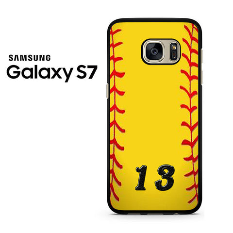 13 Custom Softball Samsung Galaxy S7 Case