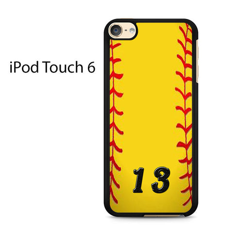 13 Custom Softball Ipod Touch 6 Case