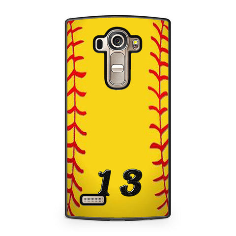 13 Custom Softball LG G4 Case