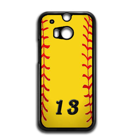 13 Custom Softball HTC One M8 Case